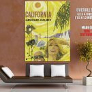 California American Airlines Travel Retro Giant Huge Print Poster