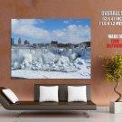 Niagara Falls Frozen Amazing Nature Giant Huge Print Poster