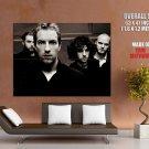 Coldplay Alternative Rock Band Music Sepia Art Giant Huge Print Poster
