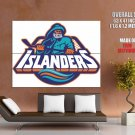 New York Islanders Logo Hockey Sport Art Giant Huge Print Poster