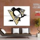 Pittsburgh Penguins Logo Hockey Sport Art Giant Huge Print Poster