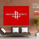 Houston Rockets Logo Basketball Sport Art Giant Huge Print Poster