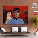 Leonard Nimoy Mr Spock Vulcan Hand Sign Star Trek Giant Huge Print Poster