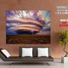 Storm Tornado Lightning Awesome Giant Huge Print Poster