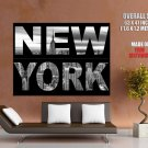 New York City NYC BW Awesome Skyline Buildings Giant Huge Print Poster