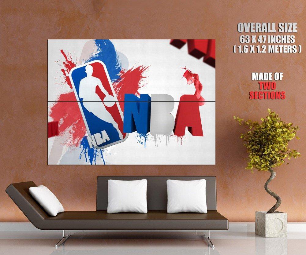 NBA Logo Artwork Art Basketball Sport Giant Huge Print Poster