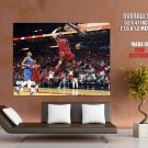 LeBron James Monster Dunk Miami Heat Sport Giant Huge Print Poster
