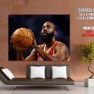 James Harden Beard Houston Rockets Free Throw Giant Huge Print Poster