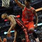Jimmy Butler Dunk Chris Bosh Bulls Basketball Sport Giant Huge Print Poster