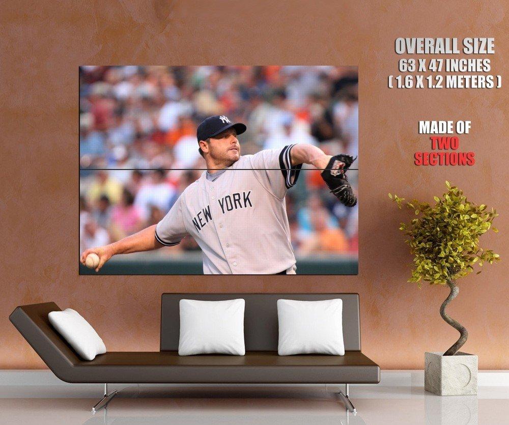 Roger Clemens New York Yankees Baseball Sport Giant Huge Print Poster