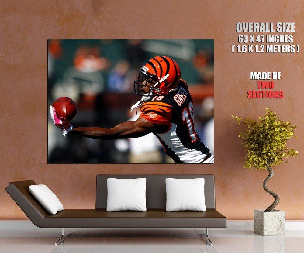 A J Green Cincinnati Bengals Football Sport Giant Huge Print Poster