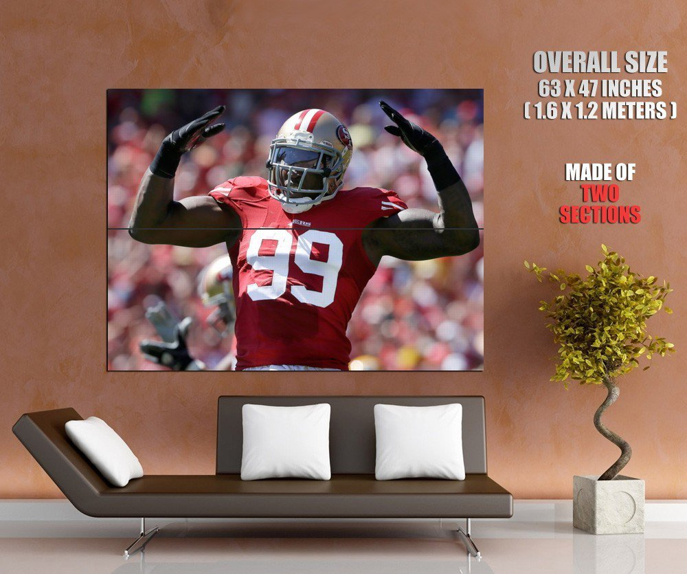 Aldon Smith San Francisco 49ers Football Sport Giant Huge Print Poster
