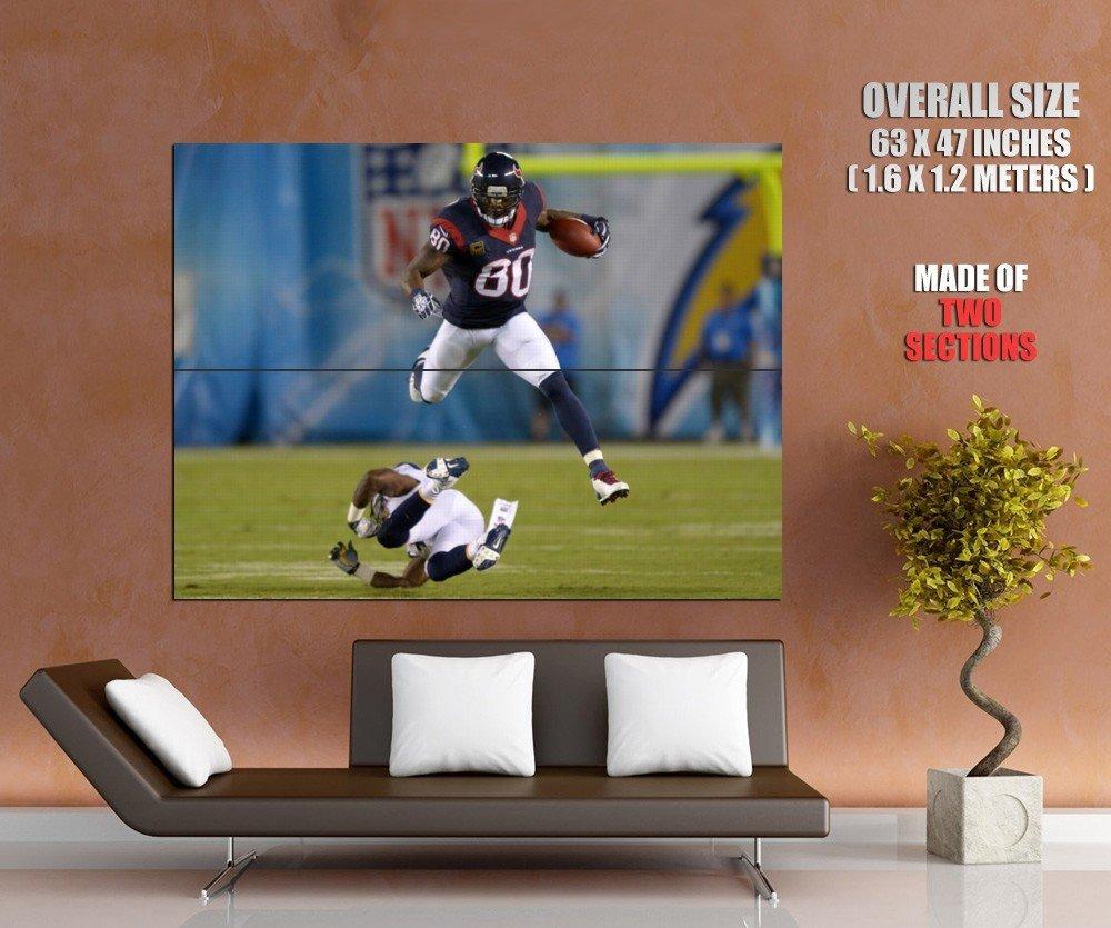 Andre Johnson Houston Texans Jump Football Sport Giant Huge Print Poster