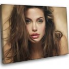 Angelina Jolie Painting Portrait Actress Art 50x40 Framed Canvas Print