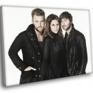 Lady Antebellum Country Pop Band Music 50x40 Framed Canvas Print