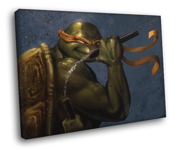 Michelangelo Angry Teenage Mutant Ninja Turtles 50x40 Framed Canvas Print