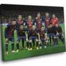 FC Barcelona Club Team Squad Catalonia Spain Barca 50x40 Framed Canvas Print