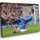 Eden Hazard Chelsea Football Soccer Sport 50x40 Framed Canvas Print