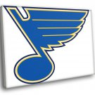 St Louis Blues Logo Hockey Sport Art 50x40 Framed Canvas Print