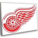 Detroit Red Wings Logo Hockey Sport Art 50x40 Framed Canvas Print