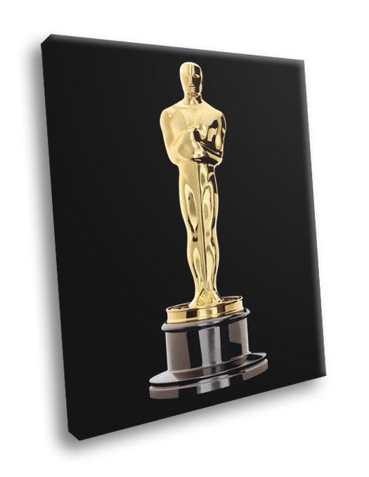 Oscar Statuette Academy Awards Movie Art 50x40 Framed Canvas Print