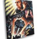 Blade Runner Retro Vintage Art Cyberpunk Movie 50x40 Framed Canvas Print