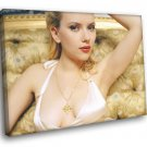 Scarlett Johansson Hot Cleavage Sexy Actress 50x40 Framed Canvas Print