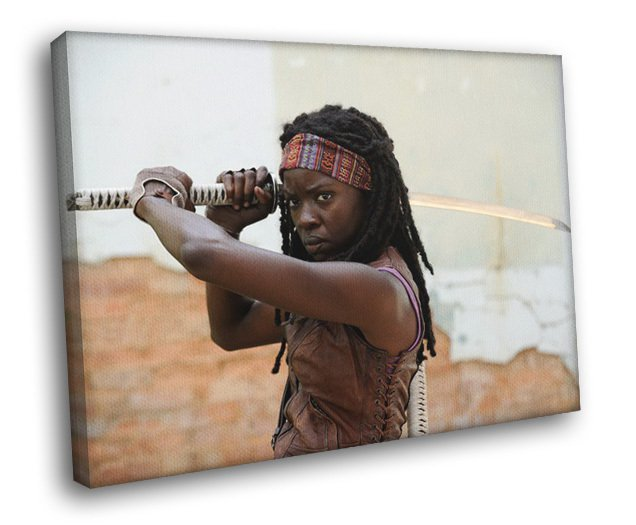 The Walking Dead Michonne Danai Gurira TV Show 50x40 Framed Canvas Print
