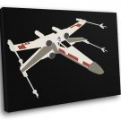 X Wing Starfighter Artwork Minimal Star Wars Art 50x40 Framed Canvas Print