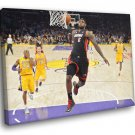 LeBron James Tomahawk Dunk Lakers Miami Heat 50x40 Framed Canvas Print