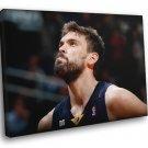 Marc Gasol Memphis Grizzlies Portrait Basketball 50x40 Framed Canvas Print
