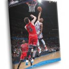 Russell Westbrook OKC Thunder Posterize Asik 50x40 Framed Canvas Print