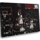 Ray Allen Miami Heat Three Point Shot Basketball 50x40 Framed Canvas Print