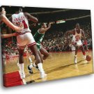 Michael Jordan Dribbling Chicago Bulls Basketball 50x40 Framed Canvas Print