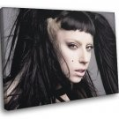 Lady Gaga Hot Hair Portrait Pop Music Singer Rare 50x40 Framed Canvas Print