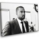 Kanye West Hip Hop Rap Music Singer BW Rare 50x40 Framed Canvas Print