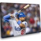 Matt Kemp Los Angeles Dodgers Baseball Sport 50x40 Framed Canvas Print