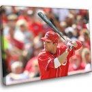 Joey Votto Cincinnati Reds Baseball Sport 50x40 Framed Canvas Print