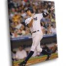 Alex Rodriguez New York Yankees Baseball Sport 50x40 Framed Canvas Print