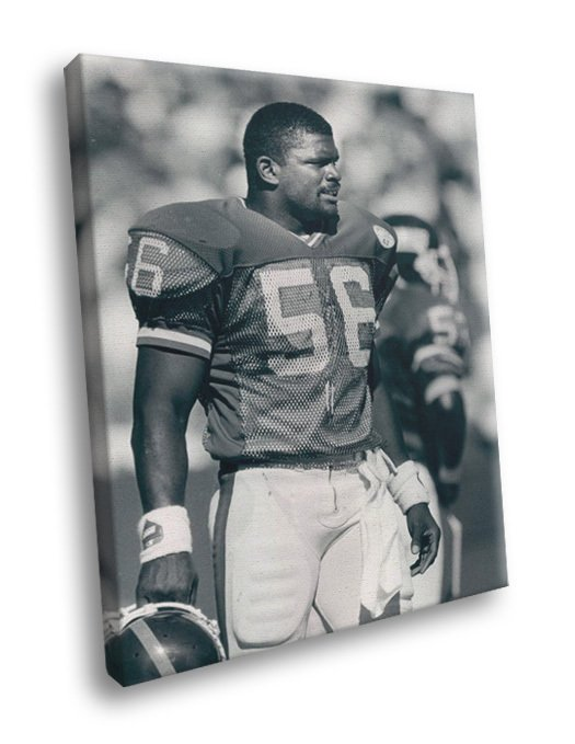 Lawrence Taylor New York Giants Football Sport 50x40 Framed Canvas Print
