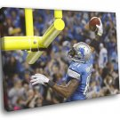Calvin Johnson Detroit Lions Football Sport 50x40 Framed Canvas Print