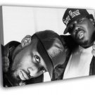 8Ball And MJG Awesome BW Retro Rap Hip Hop Duo 50x40 Framed Canvas Print