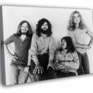 Led Zeppelin BW Retro Jones Page Bonham Plant 50x40 Framed Canvas Print