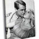 Jayne Mansfield Cary Grant BW Hot Sexy Retro 50x40 Framed Canvas Print