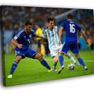 Lionel Messi Dribbling Argentina Football 50x40 Framed Canvas Print