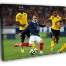 Antoine Griezmann Shot France Brazil Football 50x40 Framed Canvas Print