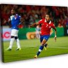 Alexis Sanchez Goal Chile Ecuador Brazil 50x40 Framed Canvas Print