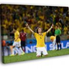 David Luiz Awesome World Cup Soccer Football 50x40 Framed Canvas Print