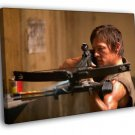 Daryl Dixon Norman Reedus The Walking Dead TV 50x40 Framed Canvas Print