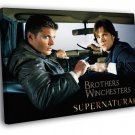 Dean Sam Winchesters Supernatural TV Series 50x40 Framed Canvas Print